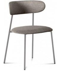 DOMITALIA Srl Anais - Jídelní židle (lak pískový matný, látka písková)
