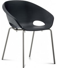DOMITALIA Srl Globe - Jídelní židle (lak pískový, černá)