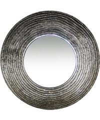 StarDeco ZRCADLO kulaté - rytý okraj, stříbrné, plast
