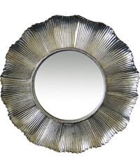StarDeco ZRCADLO kulaté - vlnitý okraj, stříbrné, plast