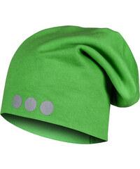 Lamama Dětská čepice s reflexním potiskem - světle zelená