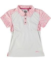Sportovní polokošile Slazenger Golf dět. bílá/růžová