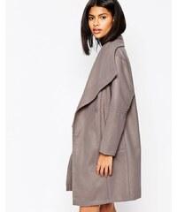 HUSH HUSH Kabát s nadrozměrným límcem
