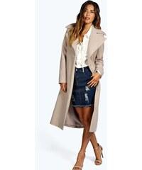 BOOHOO Luxusní béžový kabát Jeeny