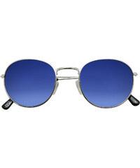 Iyu Design Lunettes De Soleil Rondes Argent Verres Bleus Uv3 - Marina