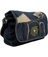New Berry Kabelky s dlouhým popruhem Látková crossbody riflová taška na rameno s výšivkou New Berry