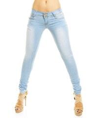 Dámské slim džíny Just-F - světle modré