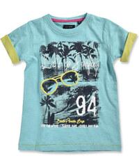 Blue Seven Chlapecké tričko s potiskem pláže - světle modré