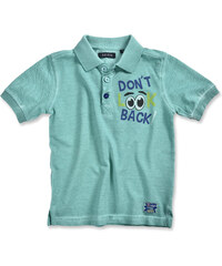 Blue Seven Chlapecké polo tričko Don't look back - zelenomodré