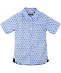 Blue Seven Chlapecká vzorovaná košile - světle modrá