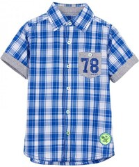 Blue Seven Chlapecká kostkovaná košile - modrá