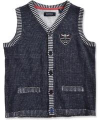 Blue Seven Chlapecká pletená vesta - tmavě šedé