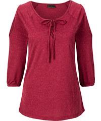 RAINBOW Shirt 3/4 Arm in rot (Rundhals) für Damen von bonprix