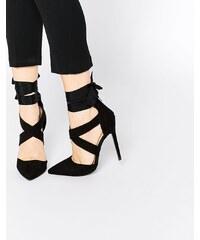 Lost Ink - Catch - Chaussures à lanières drapées - Noir - Noir