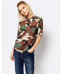 Weekday - T-shirt motif camouflage avec poches - Vert