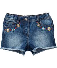 John Baner JEANSWEAR Short en jean brodé, T. 116-170 bleu enfant - bonprix