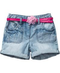 John Baner JEANSWEAR Short en jean avec ceinture, T. 116-170 bleu enfant - bonprix