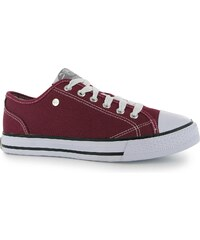 Dunlop Canvas Low dámské Trainers Burgundy
