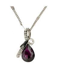 Lesara Halskette mit Tropfen-Anhänger - Violett
