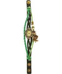 Lesara Armbanduhr mit Rosenanhänger - Grün
