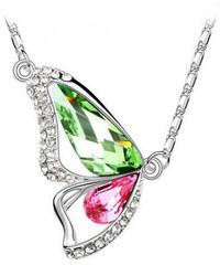 Halskette mit Swarovski Elements Schmetterling - Mehrfarbig