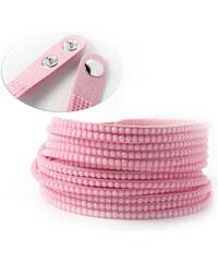 Lesara Slake Doppel-Armband - Rosé