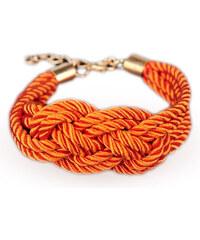 Lesara Armband aus Satinkordel - Orange