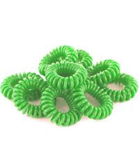 Lesara 10er-Set Haargummi im Telefonkabel-Design - Grün