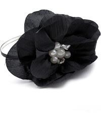 Lesara Haarreif mit Perlenblüte - Schwarz
