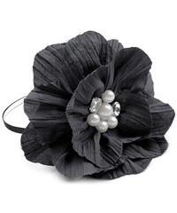 Lesara Haarreif mit Perlenblüte - Grau