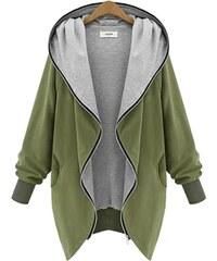 Lesara Jersey-Jacke mit Kapuze - Grün - S