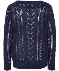 Lesara Strickjacke mit Muster - Blau - S