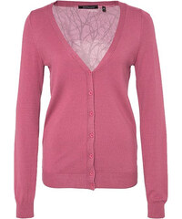 Lesara Cardigan mit abgesetzten Rückenteil - Pink - M
