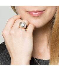 A.Angelini Ring mit Wechsel-Strass - Roségold - 52