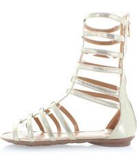 United Fashion Zlaté sandály Gladius