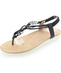 United Fashion Černé sandály Orvia