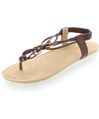 United Fashion Tmavě hnědé sandály Orvia