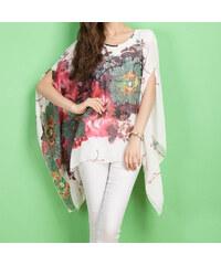 Lesara Shirt mit Fledermaus-Ärmeln - Weiß - XS