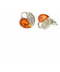 Lesara Damen-Ohrstecker im Blatt-Design - Orange
