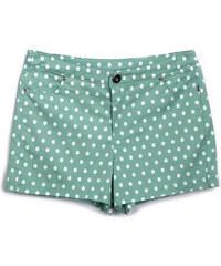 Lesara Stretch-Shorts mit Muster - Mint - S
