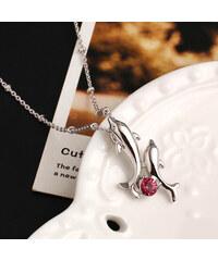 Lesara Halskette mit Delfin-Anhänger - Pink