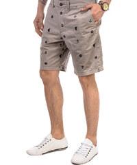 Lesara Shorts mit maritimen Muster - Beige - XL