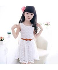 Lesara Kleid aus Spitze - Weiß - 98-104