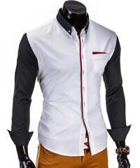 Lesara Hemd mit roter Knopfleiste - Weiß - S