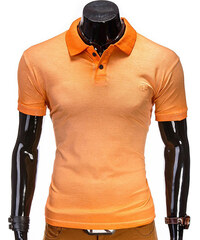 Lesara Herren-Poloshirt unifarben - Orange - L