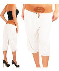 Lesara Capri-Pumphose mit Taillengürtel - Weiß