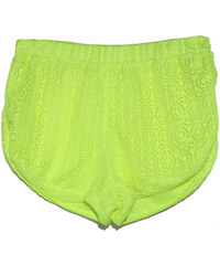 Lesara Neon-Shorts in Häkel-Optik - Gelb - S