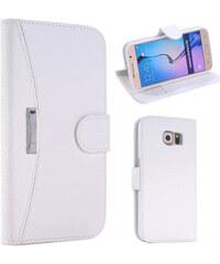 Lesara Schutzhülle für Samsung Galaxy S6 in Leder-Optik - Weiß