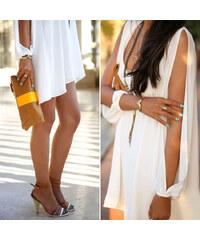 Lesara Kleid mit Armschlitzen - Weiß - S