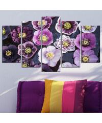 Lesara 5-teiliges Wandbild Blumen - Wasserblumen